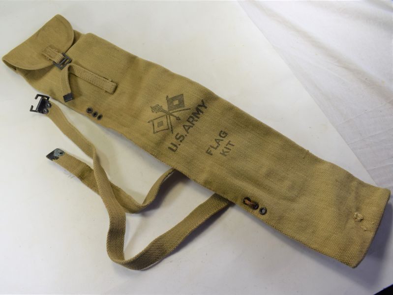 WW2 British Made US Army Flag Kit Bag In Good Condition