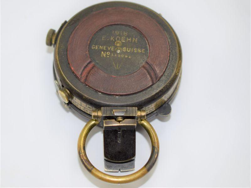 93 Excellent WW1 British Officers Verner's Pattern VIII Prismatic Compass & Case
