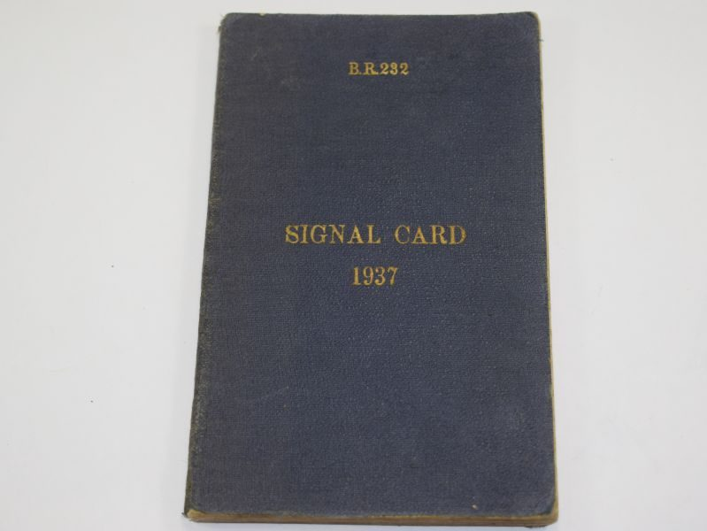 94 WW2 Royal Navy Issue Signal Card 1937 Dated 1941
