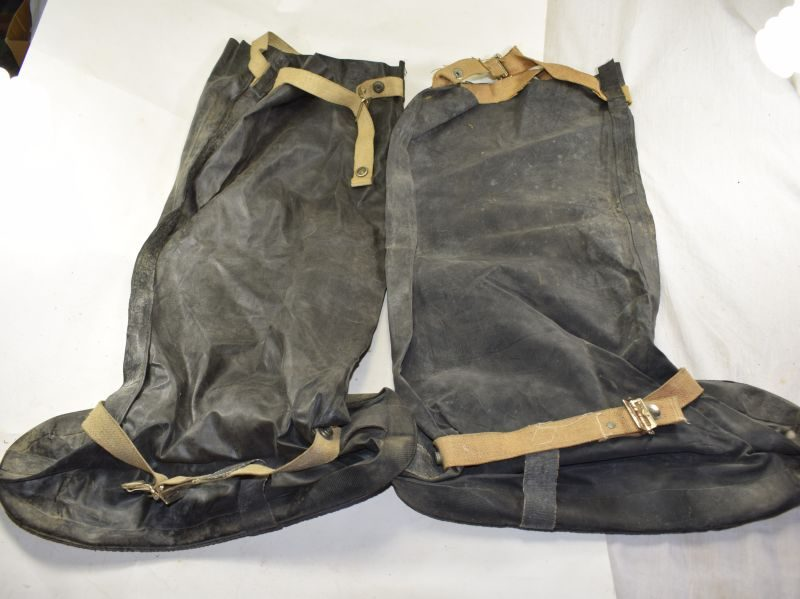 18 WW2 British Rubber Anti-Gas Boots Dated 1941