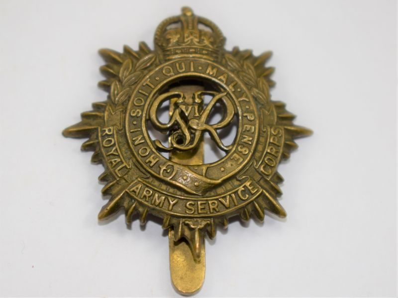 30 Good Original WW2 Royal Army Service Corps Cap Badge
