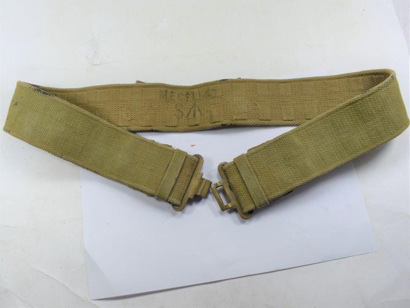 96 WW2 British Army 37 Pat Economy Pattern Web Waist belt MECo 1943.