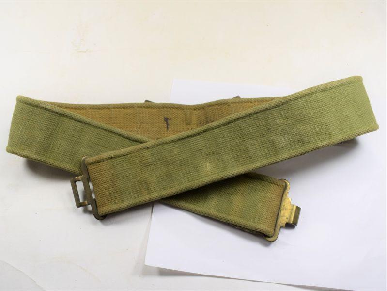 34 Original WW2 British Army 37 Pat Webbing Waist Belt Economy Version 1943