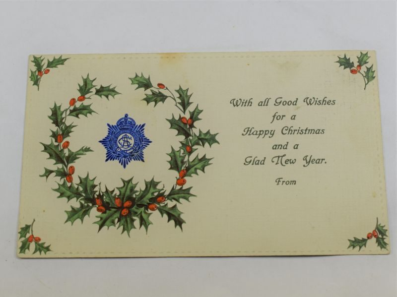 35 Excellent WW1 Army Service Corps Christmas Card Sales Sample