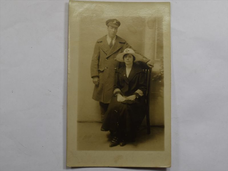 36 WW1 Photograph Post Card Injured Man & Girlfriend Royal Artillery