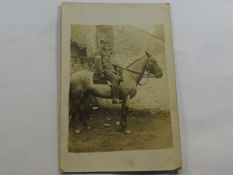 32 Interesting WW1 Photo Royal Signals Man on Horseback