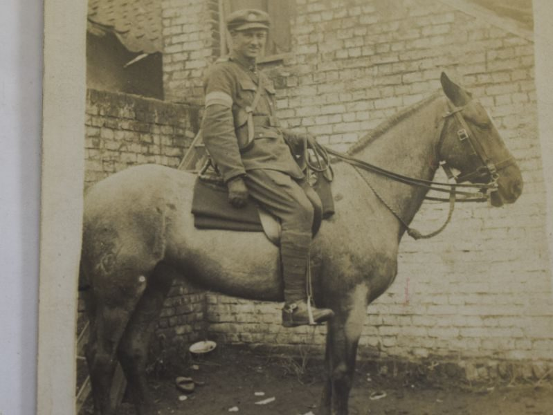 32 Interesting WW1 Photo Royal Signals Man on Horseback