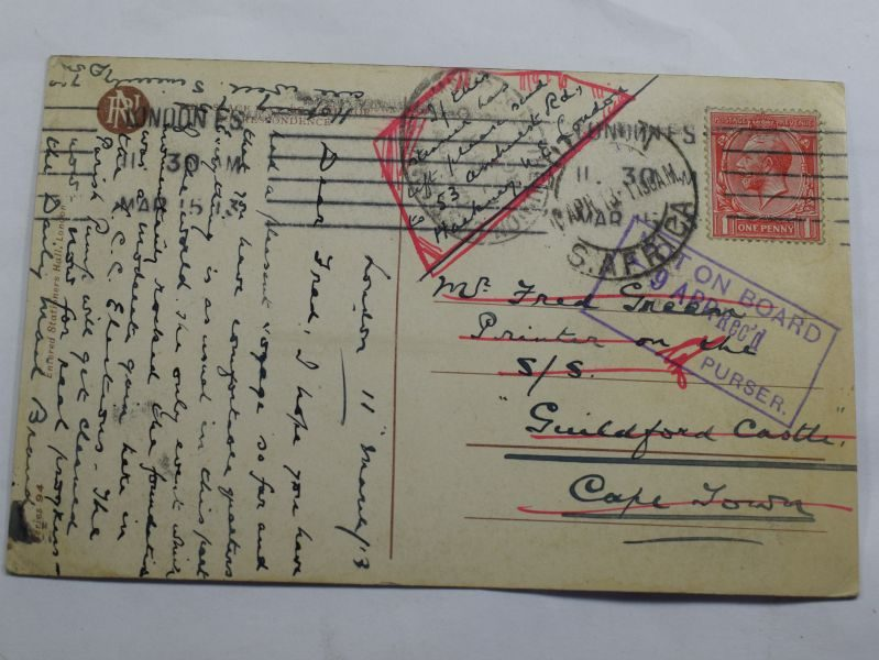 33 WW1 Postcard Sent To Someone on SS Guildford Castle