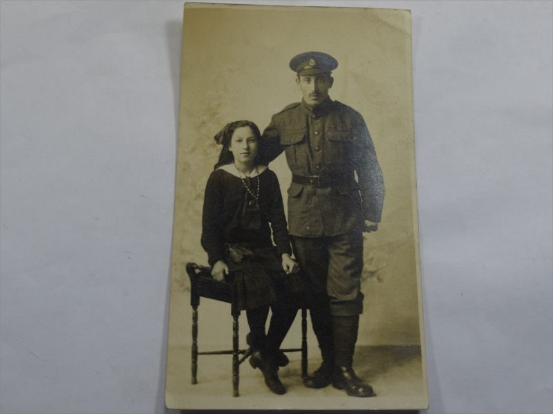 35 Original WW1 Studio Photo RAMC Soldiers & Daughter
