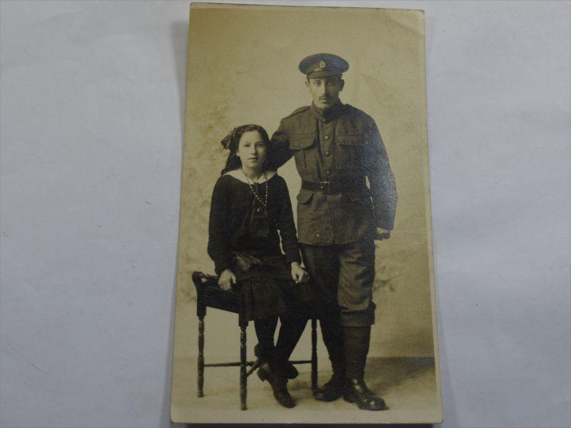 35 Original WW1 Studio Photo RAMC Soldiers & Daughter