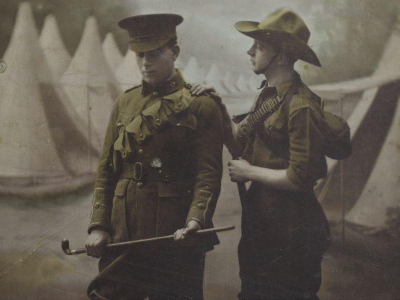 39 Original WW1 Photograph British Officers & A Soldier