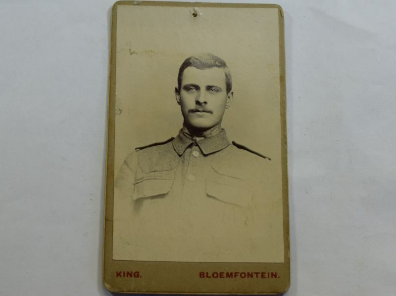 41 Original Small Photograph of Soldier, Taken Bloemfontein South Africa 1903