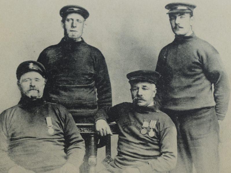 "43 Original Early Poststcard Crew of the ""Sunbeam"" Margate"