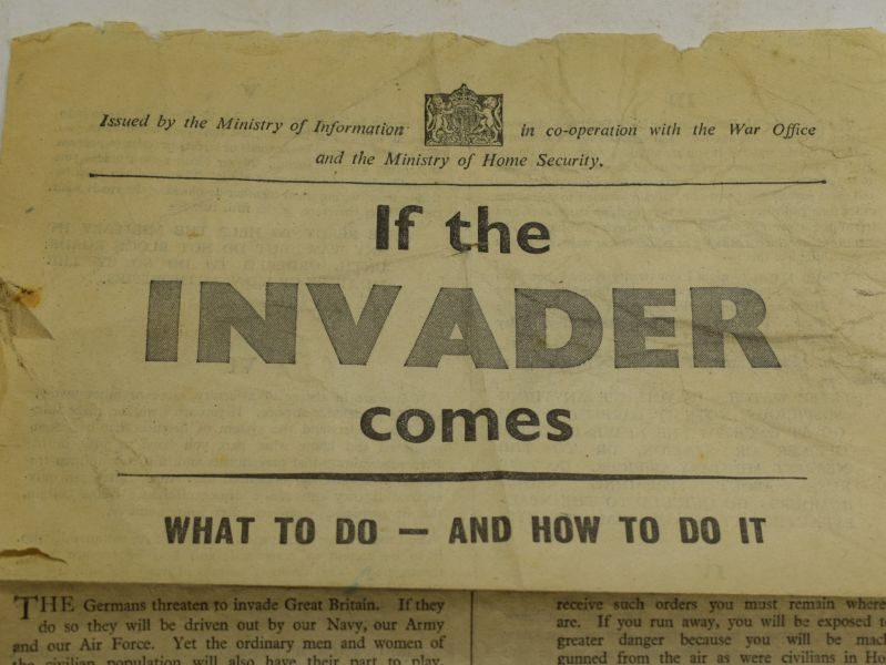 45 Tatty Original WW2 Leaflet if The INVADER Comes, What To Do And How To Do It