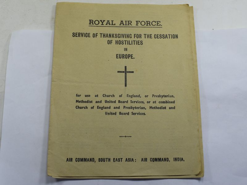47 WW2 RAF Service of Thanksgiving For The Cessation of Hostilities In Europe