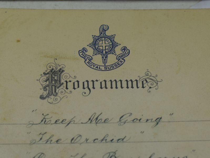 51 Interesting Set of 13 Royal Sussex Regiment Band Programs Dated 1923-1924