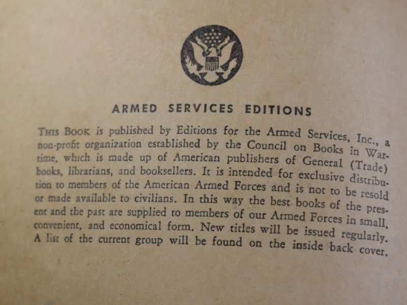 53 Original WW2 US Military Forces Novel Gentle Annie Dated 1942