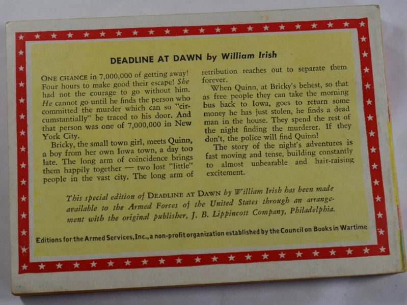 55 Original WW2 US Military Forces Novel Deadline at Dawn 1944