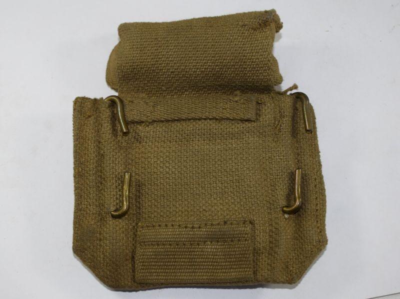 63 Original WW2 British 37 Pat Pistol Ammo Pouch MECo 1942