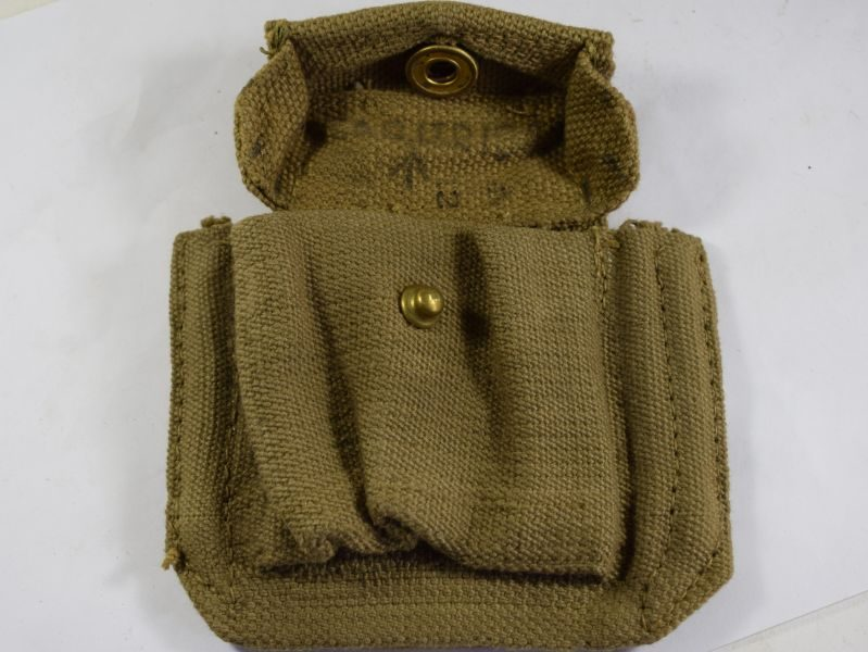 65 Original WW2 British 37 Pat Pistol Ammo Pouch MW&S Ltd 1943