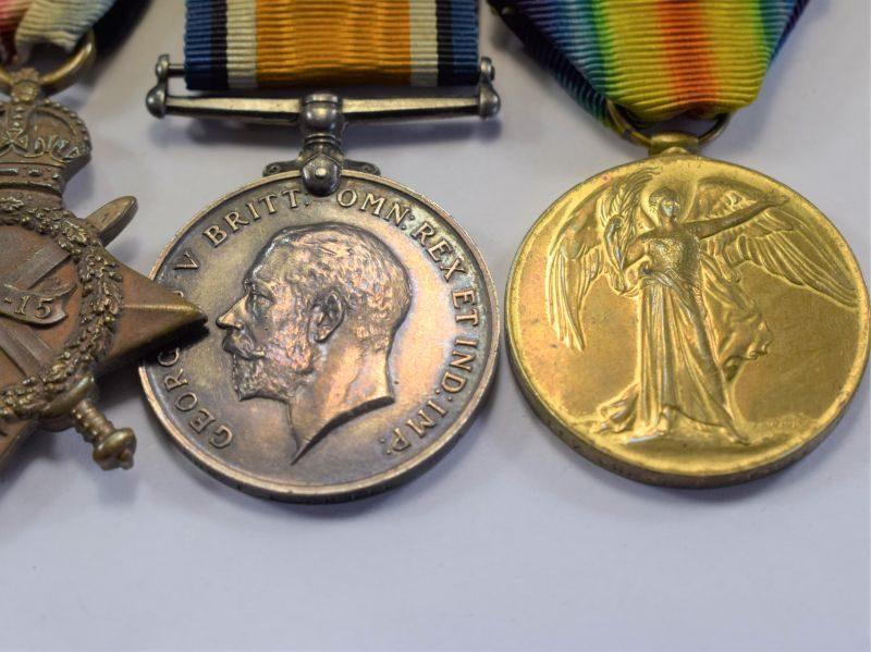 WW1 British Full Size medal Trio 997 Gnr F.E.Tyrell R.F.A.