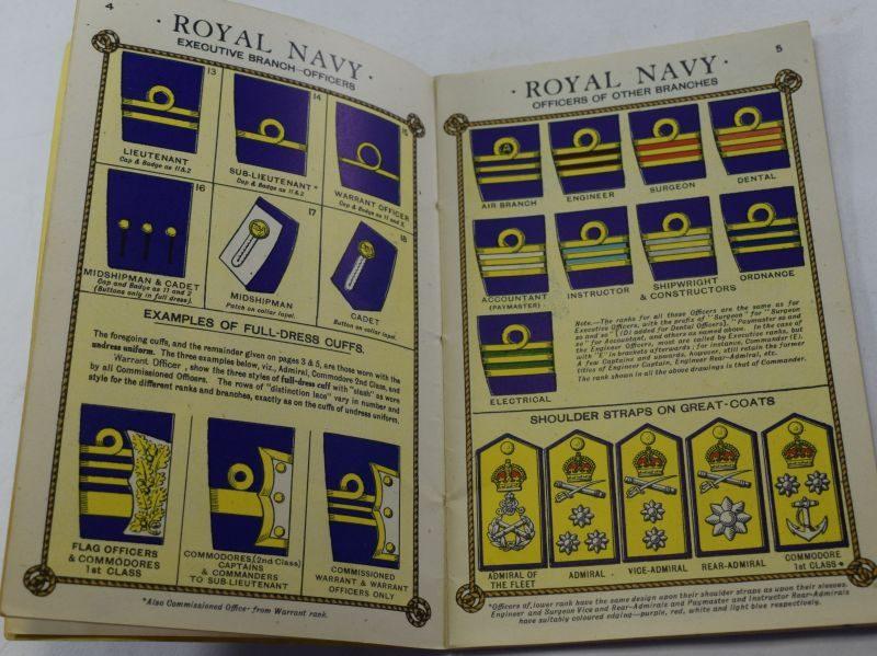 24 WW2 British Booklet Rank & Badges, Navy, Army, RAF, & Auxiliaries 1942