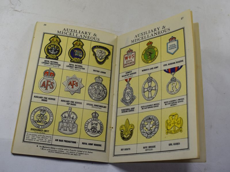 24 WW2 British Booklet Rank & Badges, Navy, Army, RAF, & Auxiliaries 1942