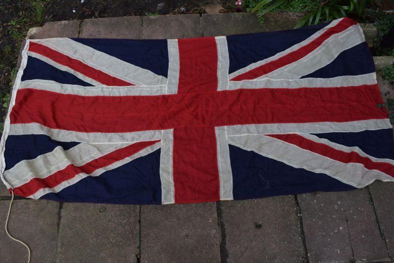 Large Size Early Vintage WW1 WW2 British Union Jack Flag