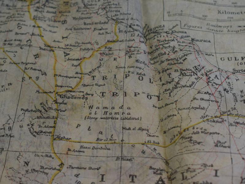 79 Original WW2 British Silk/Rayon Escape Map North Africa, Sicily, Crete