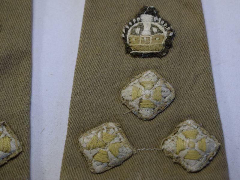 82 WW2 era British Officers Rank Slides To A Brigadier