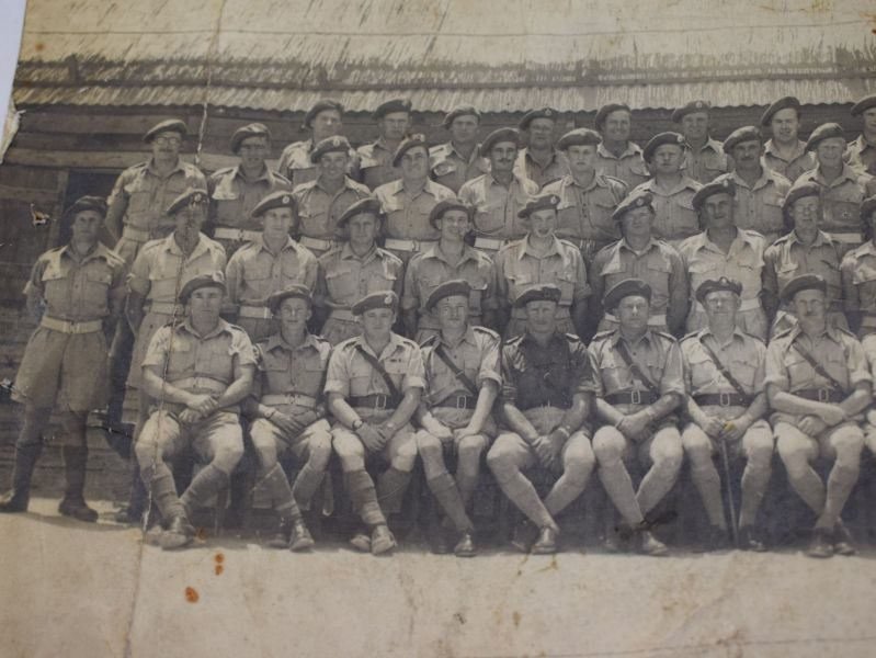 soe 121_Tatty Original WW2 Royal Engineers Group Photo With ID Paperwork - World War Wonders