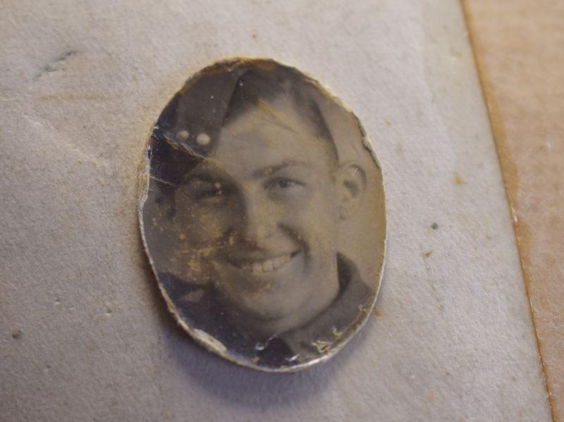 Tatty Original WW2 Royal Engineers Group Photo With ID & Paperwork