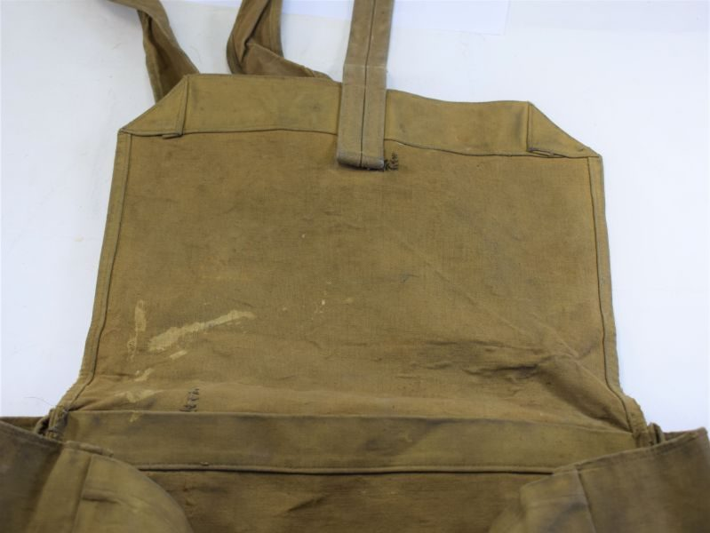 Good Original WW2 Home Guard Issue Rubberized Waterproof Haversack