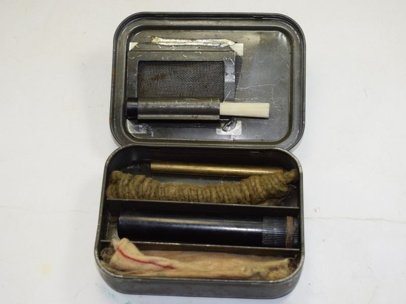 64 Original Complete WW2-1950s British Army Issue Rifle Cleaning Kit in Tin