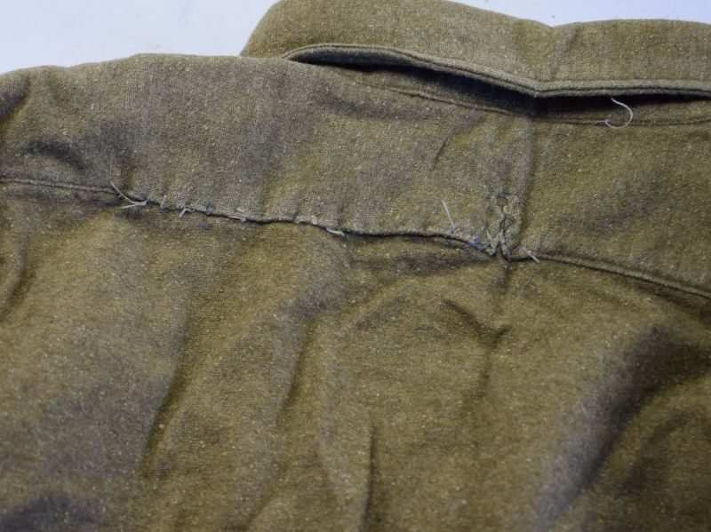 Good WW2 British Army Issue 3 button Front Shirt 1945 Large Size 8