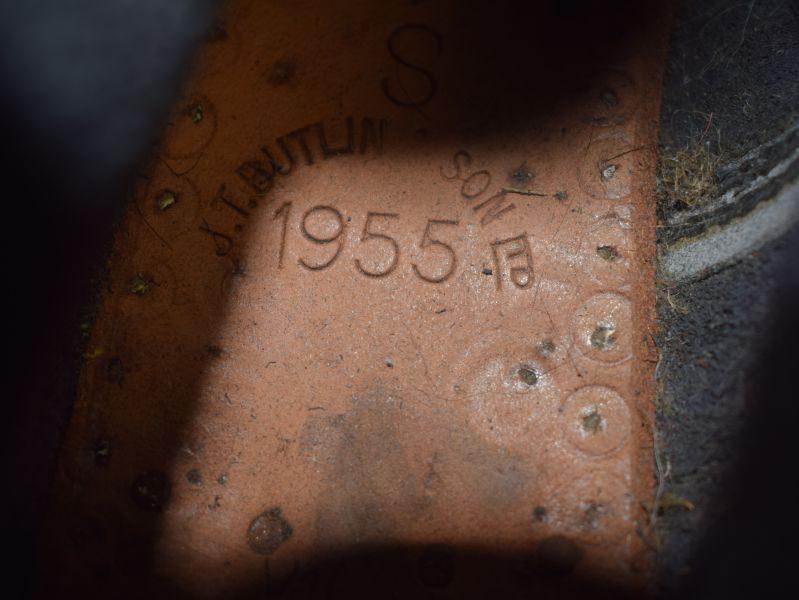 Near Mint WW2 Pat British Army Ammo Boots Dated 1955