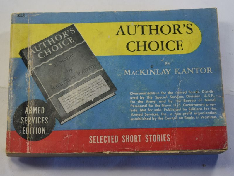 74 Original WW2 US Military Forces Issue Book Author's Choice Dated 1944