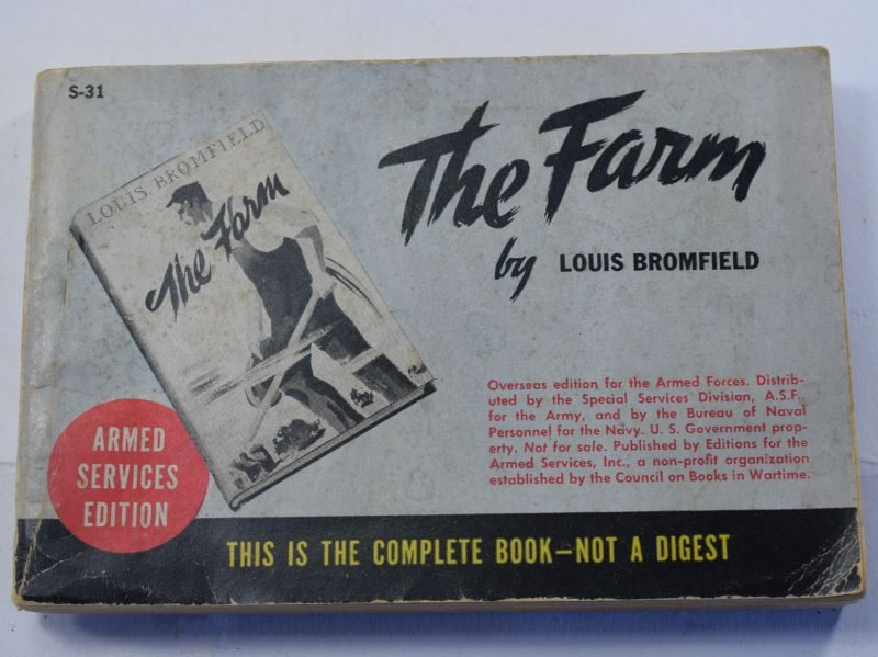 75 Original WW2 US Military Forces Issue Book The Farm Dated 1935