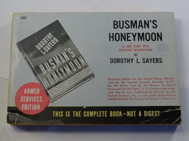 78 Original WW2 US Military Forces Issue Book Busman's Honeymoon Dated 1937