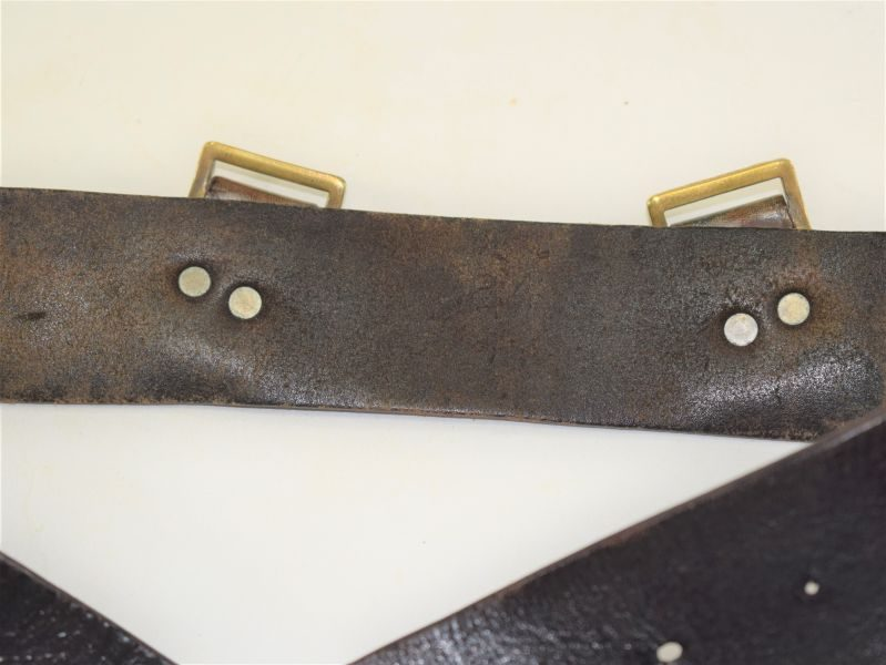 Excellent WW2 Home Guard Issue 1939 Pat Leather Waist Belt BHG 1941
