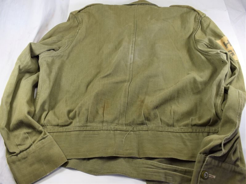 Excellent WW2 Denim Overalls Jacket With Home Guard Insignia