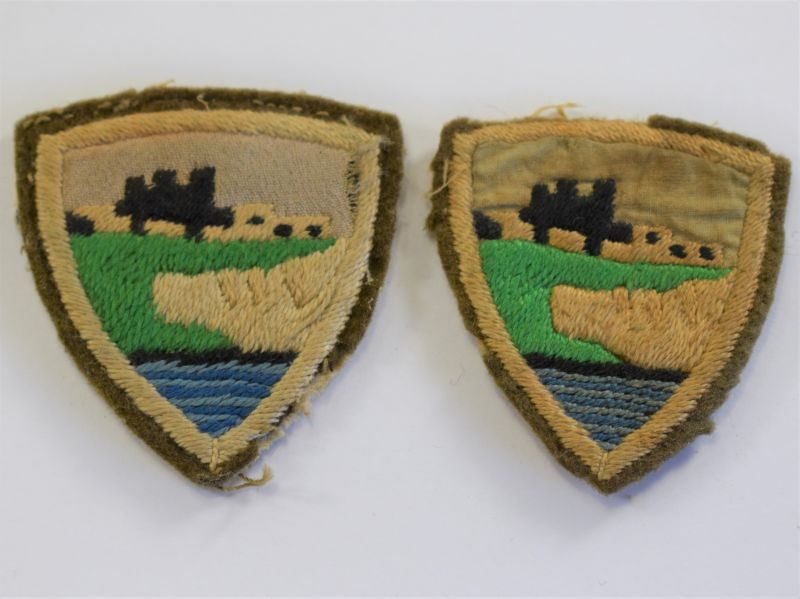 5 Good original Uniform Removed Home Counties Cloth Insignia Pair