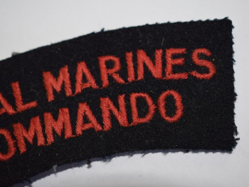 10 Original Uniform Removed Royal Marines Commando Cloth badge