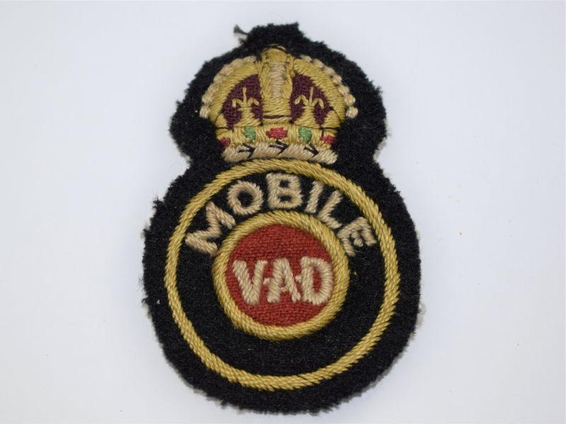 24 Original WW2 Uniform Removed Mobile VAD Cloth Badge BRCS Cheshire