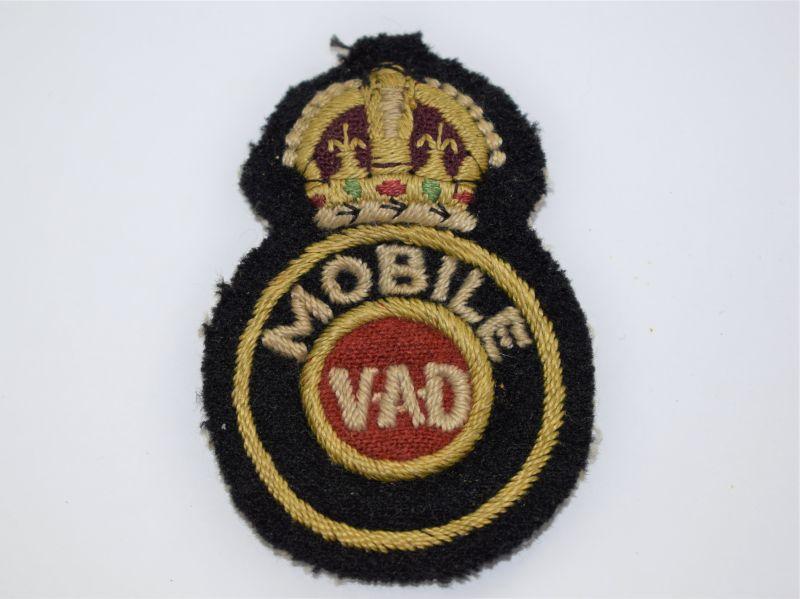 24 Original WW2 Uniform Removed Mobile VAD Cloth Badge BRCS Cheshire