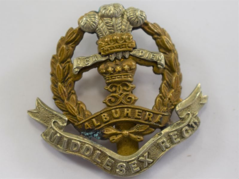 28 Original WW1 WW2 Cap Badge to The Middlesex Regiment