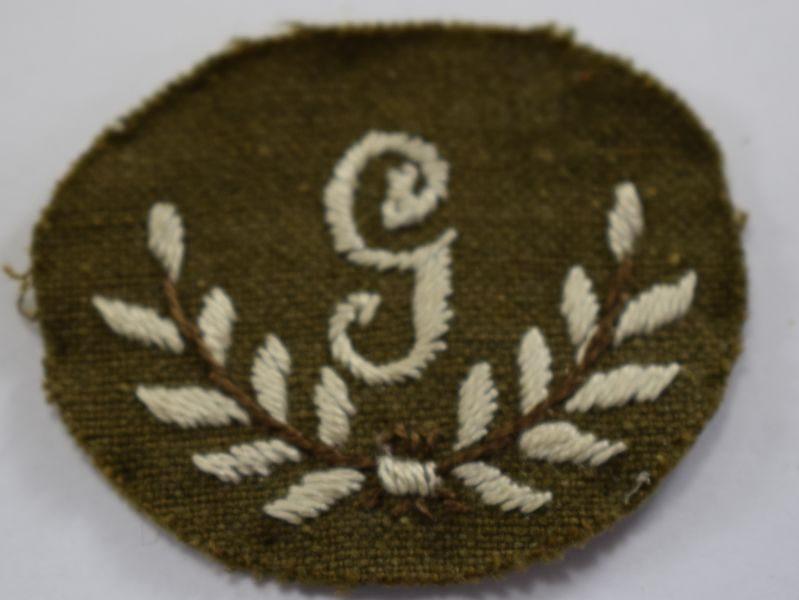 29 Original WW1 WW2 British Army G Trade Badge for Gunner
