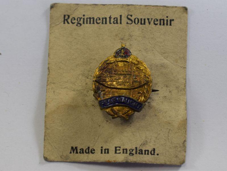 Original WW2 Royal Tank Regiment Sweetheart Brooch Still On Backing Card