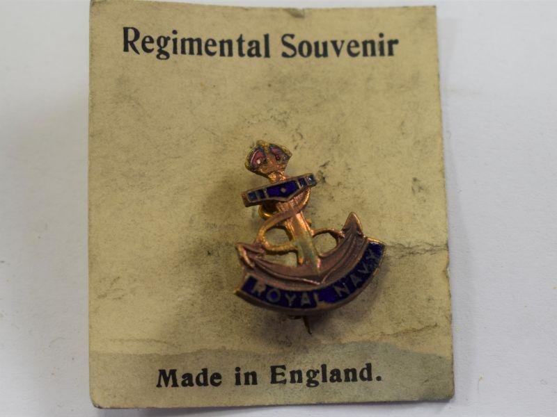 Original WW2 Royal Navy Sweetheart Brooch Still On Backing Card