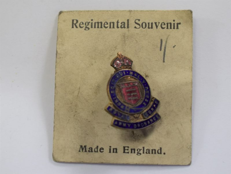 Original WW2 Royal Army Ordnance Corps Sweetheart Brooch Still On Backing Card